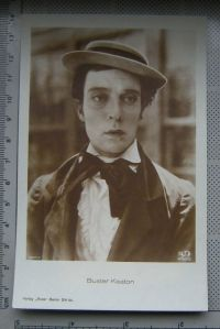 Buster Keaton, carte postala, necirculata